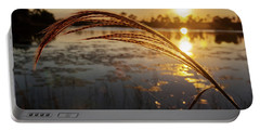 Portable Battery Charger featuring the photograph Sunset At Gator Hole 2 by Arthur Dodd