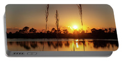 Sunset At Gator Hole 3 Portable Battery Charger