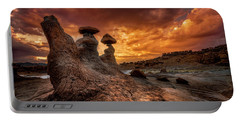 Sunset At Goblin Valley Portable Battery Charger