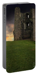 Sunset At Hadleigh Castle Portable Battery Charger