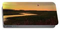 Sunset At Holkham Today  #landscape Portable Battery Charger