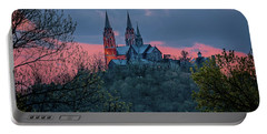 Portable Battery Charger featuring the photograph Sunset At Holy Hill by Susan Rissi Tregoning