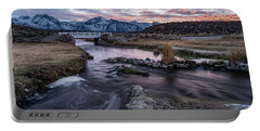 Sunset At Hot Creek Portable Battery Charger