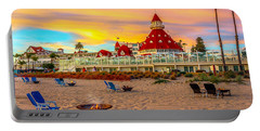 Sunset At Hotel Del Coronado Portable Battery Charger