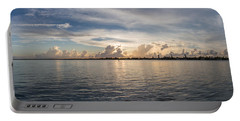Sunset At Key Largo Portable Battery Charger by Christopher L Thomley