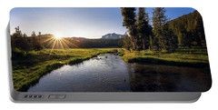 Portable Battery Charger featuring the photograph Sunset At Kings Creek In Lassen Volcanic National by John Hight