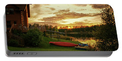 Sunset At Lakeside Lodge Portable Battery Charger