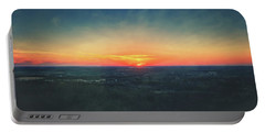 Portable Battery Charger featuring the photograph Sunset At Lapham Peak #3 - Wisconsin by Jennifer Rondinelli Reilly - Fine Art Photography