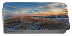 Sunset At Lighthouse Beach In Chatham Massachusetts Portable Battery Charger