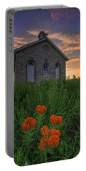Sunset At Lower Fox Creek Schoolhouse Portable Battery Charger