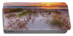 Sunset At Manisota Beach Portable Battery Charger