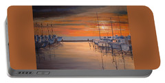 Sunset At Marina Portable Battery Charger