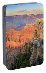 Portable Battery Charger featuring the photograph Sunset At Mather Point by David Chandler
