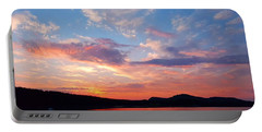 Sunset At Ministers Island Portable Battery Charger