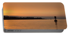 Portable Battery Charger featuring the photograph Sunset At Monterey Bay by Suzanne Luft