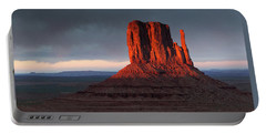 Sunset At Monument Valley Portable Battery Charger