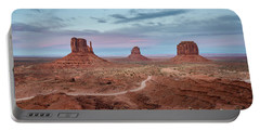 Sunset At Monument Valley No.1 Portable Battery Charger