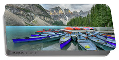 Sunset At Moraine Lake Portable Battery Charger