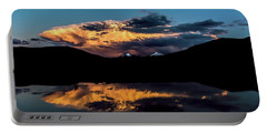 Sunset At Mount Guyot And Bald Mountain Portable Battery Charger
