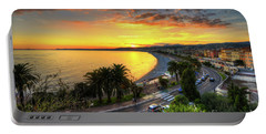 Portable Battery Charger featuring the photograph Sunset At Nice by Yhun Suarez