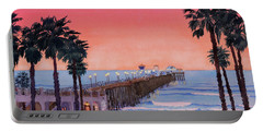 Sunset At Oceanside Pier Portable Battery Charger