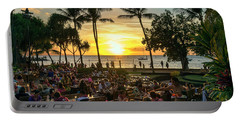 Sunset At Old Lahaina Luau #1 Portable Battery Charger