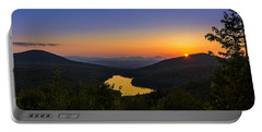 Sunset At Owls Head Portable Battery Charger by Tim Kirchoff