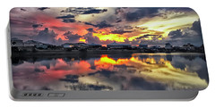 Sunset At Oyster Lake Portable Battery Charger