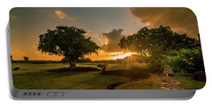 Sunset At Paia Portable Battery Charger