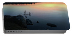 Sunset At Pentwater Lake Portable Battery Charger
