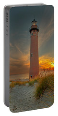 Portable Battery Charger featuring the photograph Sunset At Petite Pointe Au Sable by Susan Rissi Tregoning