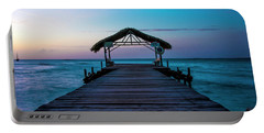 Portable Battery Charger featuring the photograph Sunset At Pigeon Point by Rachel Lee Young