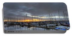Sunset At Port Gardner Portable Battery Charger