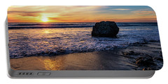 Portable Battery Charger featuring the photograph Sunset At San Simeon Beach by John Hight