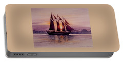 Sunset At Sea Portable Battery Charger
