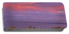Sunset At Sequim Portable Battery Charger