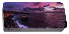 Sunset At Sunset Cliffs Portable Battery Charger