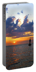 Sunset At The Bell Buoy Portable Battery Charger