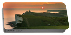 Sunset At The Belle Tout Lighthouse Portable Battery Charger