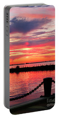 Sunset At The Docks Portable Battery Charger