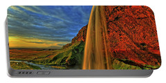 Portable Battery Charger featuring the photograph Sunset At The Falls by Scott Mahon