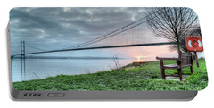 Sunset At The Humber Bridge Portable Battery Charger