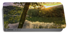 Portable Battery Charger featuring the photograph Sunset At The Lake by Kerri Farley