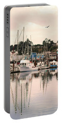 Portable Battery Charger featuring the photograph Sunset At The Marina by Diane Schuster