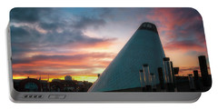 Sunset At The Museum Of Glass Portable Battery Charger
