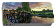 Sunset At The Old North Bridge Portable Battery Charger