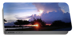 Portable Battery Charger featuring the photograph Sunset At The Park In Miami Florida by Patricia Awapara