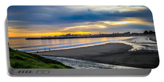 Portable Battery Charger featuring the photograph Sunset At The Rivermouth by Lora Lee Chapman