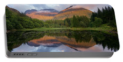 Sunset At Torren Lochan Portable Battery Charger