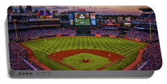 Sunset At Turner Field - Home Of The Atlanta Braves Portable Battery Charger